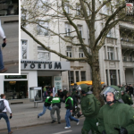 Maik Schneider auf einer spontanen Neonazi-Demonstration in Berlin-Charlottenburg am 01.05.2012