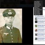 """Daniel Friedrich bekommt """"likes"""" von Oliver Kalies (""""Oliver Becker"""") und Ilja Schartow für das Bild eines, möglicherweise verwandten, Wehrmachtssoldaten."""