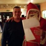 Marcus Schiller am 17. Dezember auf der Weihnachtsfeier eines Junioren-Teams von Fortuna Babelsberg