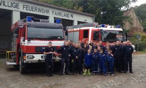 Sascha Li. und Paul Enderling in den Reihen der Freieilligen Feuerwehr Fahrland