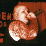 """Der Potsdamer Neonazi Uwe Menzel auf dem Cover des Albums """"Fanatiker"""" seiner Band Aryan Brotherhood"""
